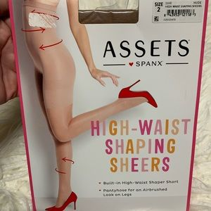 Assets by Spanx high waist shaping sheers nude